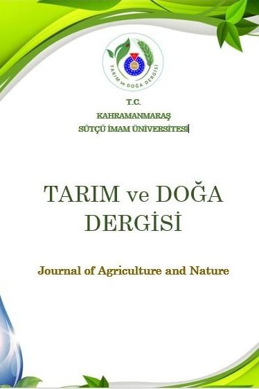 Kahramanmaraş Sütçü İmam Üniversitesi Tarım ve Doğa Dergisi