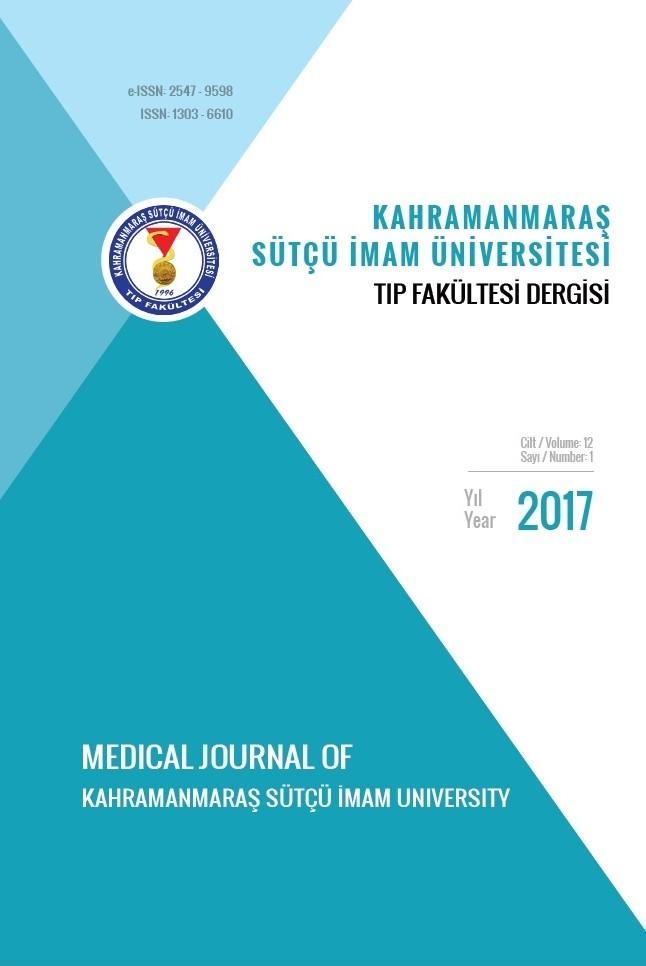 Kahramanmaraş Sütçü İmam Üniversitesi Tıp Fakültesi Dergisi